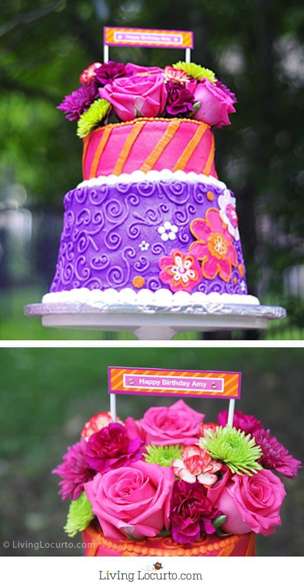 Beautiful floral cakes pretty birthday cake ideas this delicious hot pink floral cake was inspired by my 40th birthday party it was izmirmasajfo