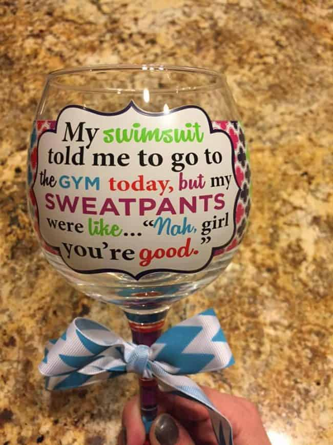 Here is a Funny Wine Glass that I would love!