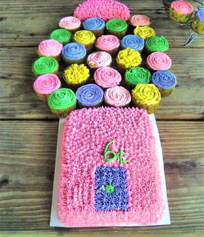 Birthday Cake Ideas Made Out Of Cupcakes : Best Birthday Cupcake Cakes Pull Apart Cake Ideas