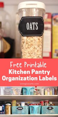 Kitchen Pantry Free Printable Organization Labels