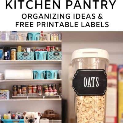 Kitchen Pantry Organization Ideas Free Printables