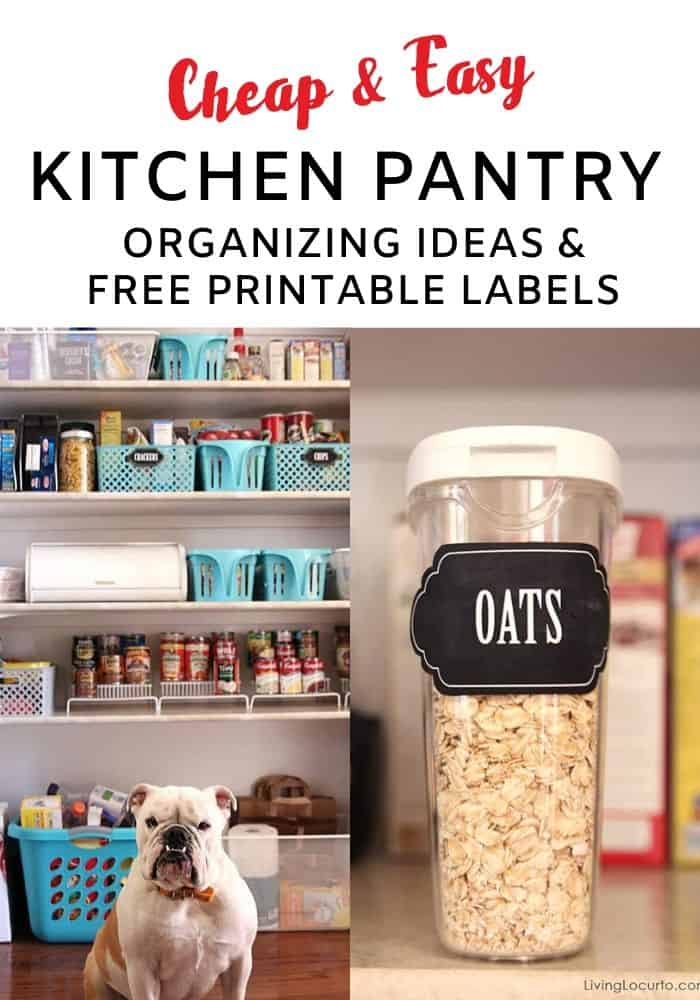 Kitchen Pantry Organization Ideas Free Printables