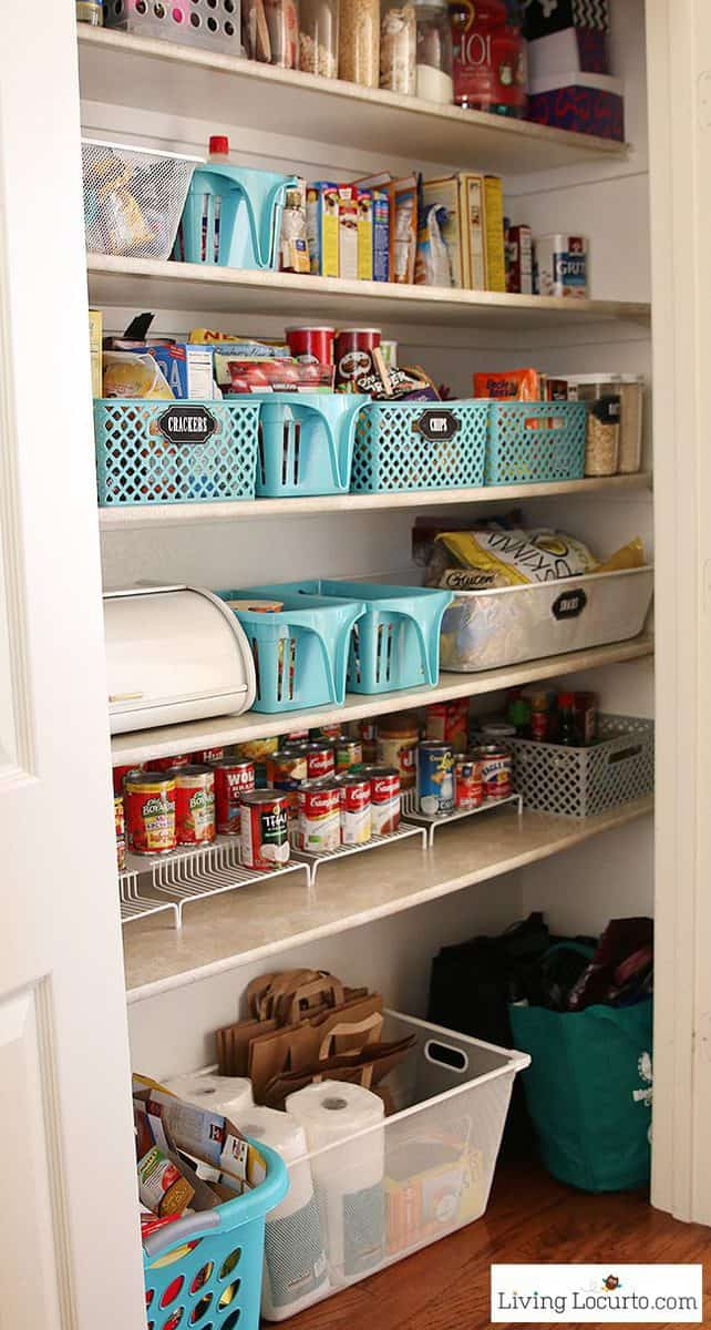 Kitchen pantry organization makeover free printable labels for Kitchen storage ideas