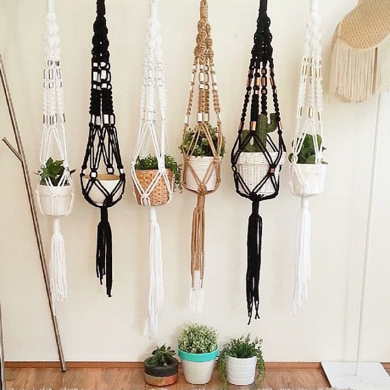 Fun Handmade Macrame Plant Hangers