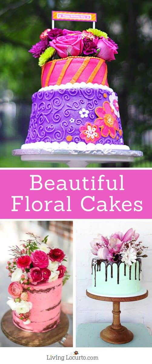 The Most Amazing Cakes Floral Topped With Fresh Flowers Drippy Frosting And Unique