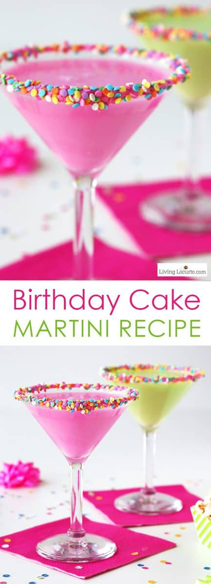 Birthday Cake Martini Recipe | Easy Party Cocktail