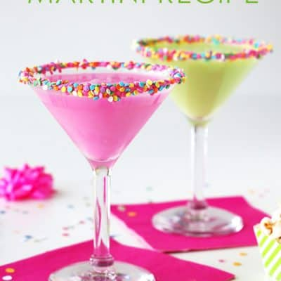 Birthday Cake Martini Recipe