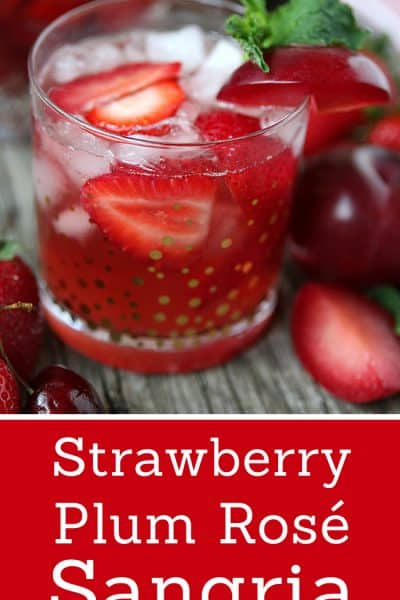 Strawberry Plum Rose Sangria Recipe