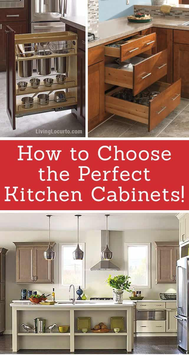Choosing Kitchen Cabinets ~ Tips for choosing the perfect kitchen cabinets