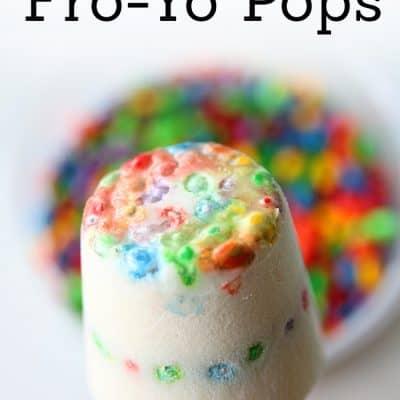 Rainbow Fro-Yo Pops