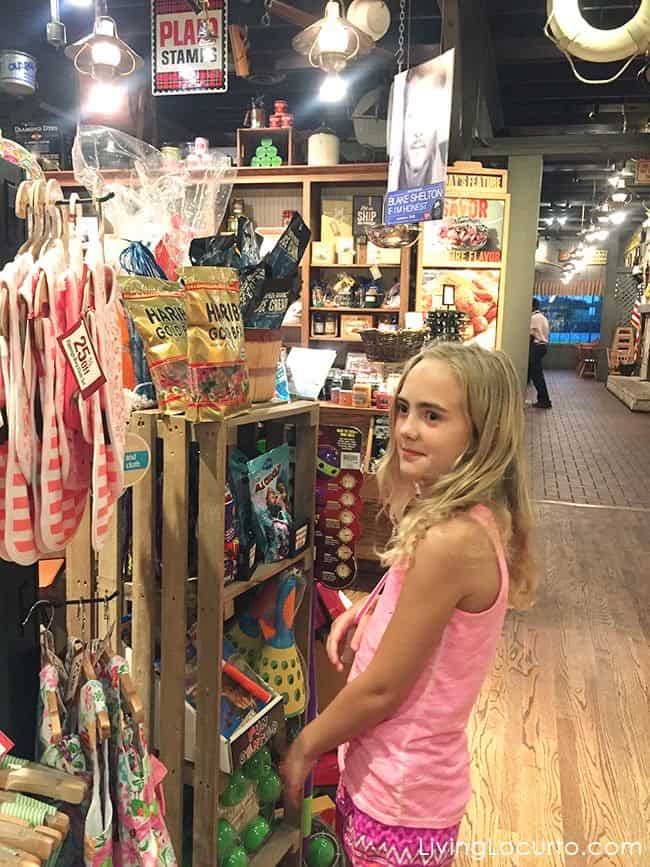 Shopping at Cracker Barrel
