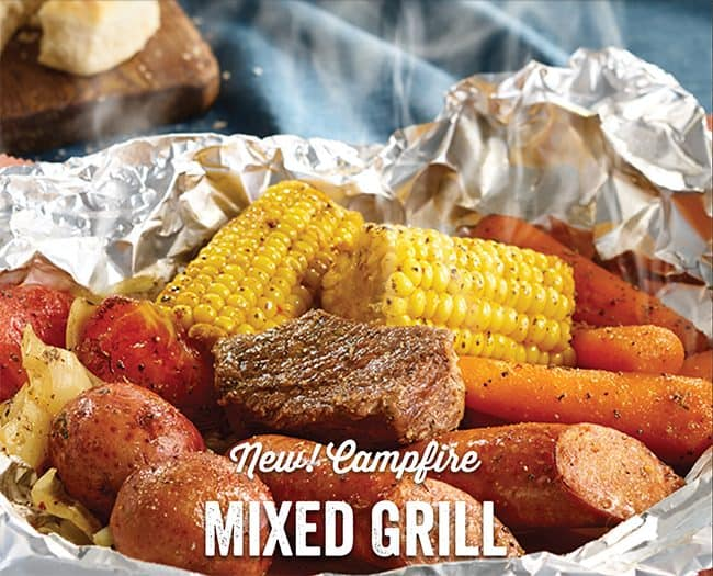 Campfire meals by Cracker Barrel