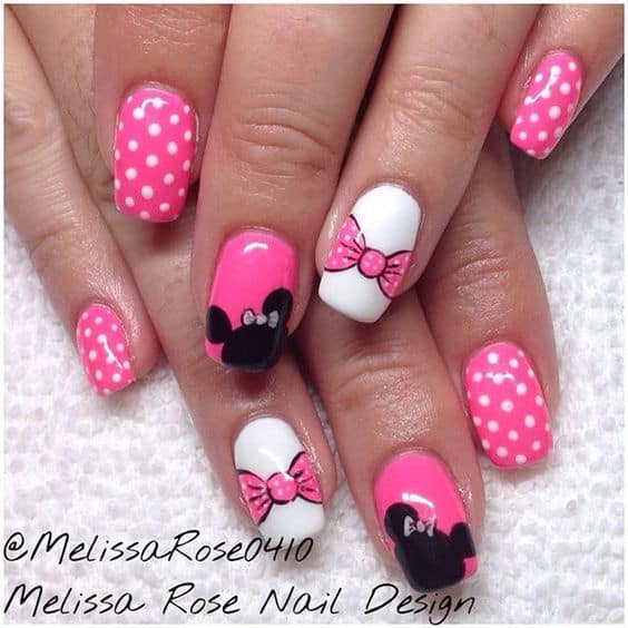 Minnie Mouse Finger Nail Art The Ultimate List Of Craft Ideas Party