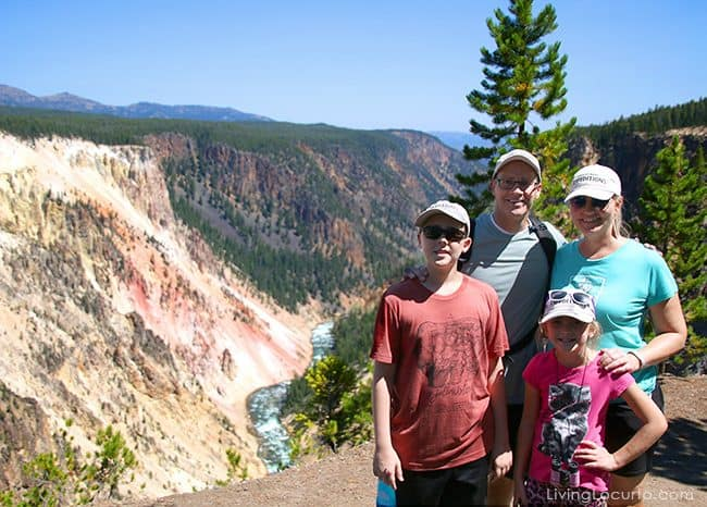 Grand Canyon of Yellowstone National Park. Amy Locurto travel blogger family vacation