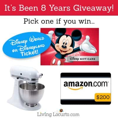 8th Year of Blogging Celebration Giveaway!