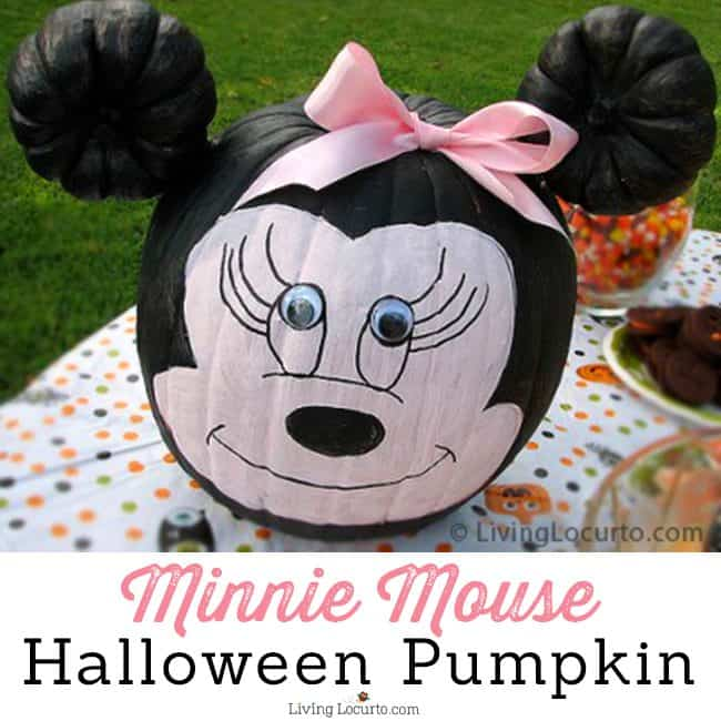 Minnie Mouse Halloween Pumpkin