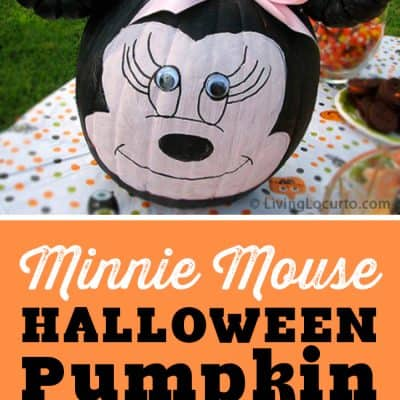 Minnie Mouse Halloween Pumpkin Craft