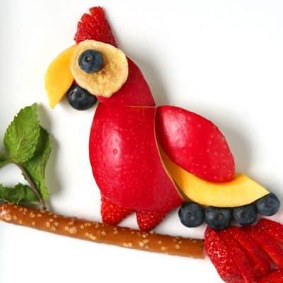 Parrot Fruit Snack | Healthy Kids Treat