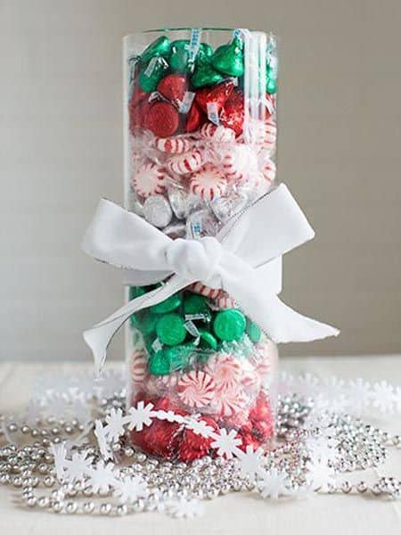 Christmas Candy Centerpiece - The Best Christmas Table Setting Decorations | Holiday Home Decor