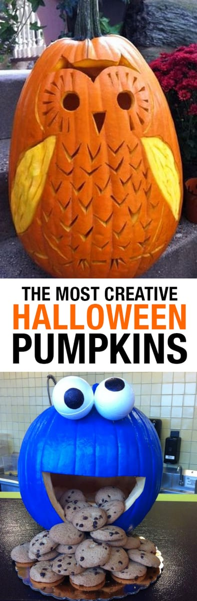 The Most Creative Halloween Pumpkins Ever Seen! Whether you enjoy carving or painting best, you'll love these inspiring ideas for your Halloween Pumpkins! Disney ideas, animal carvings and more. #pumpkins #halloween