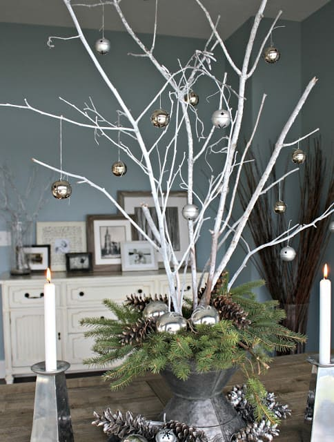 Shabby Chic Holiday Centerpiece - - The Best Christmas Table Setting Decorations   Holiday Home Decor