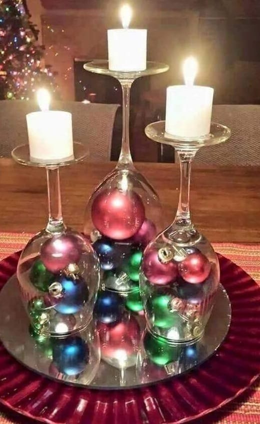 wine glass christmas centerpiece the best christmas table setting decorations holiday home decor