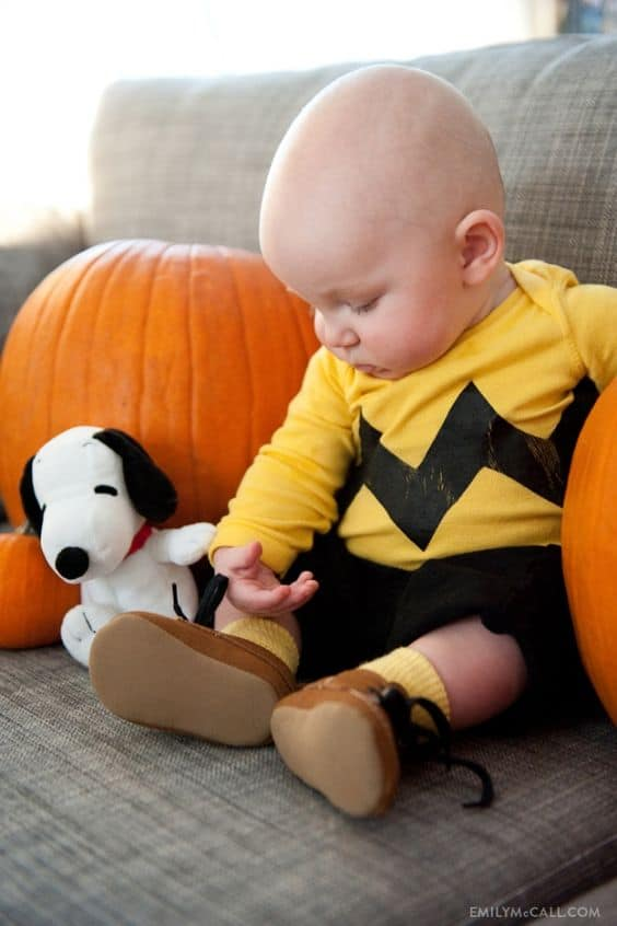 Charlie Brown Baby - Cute Kids Halloween Costumes! Over 25 of the Best DIY Halloween Ideas to inspire you on Trick or Treat night!