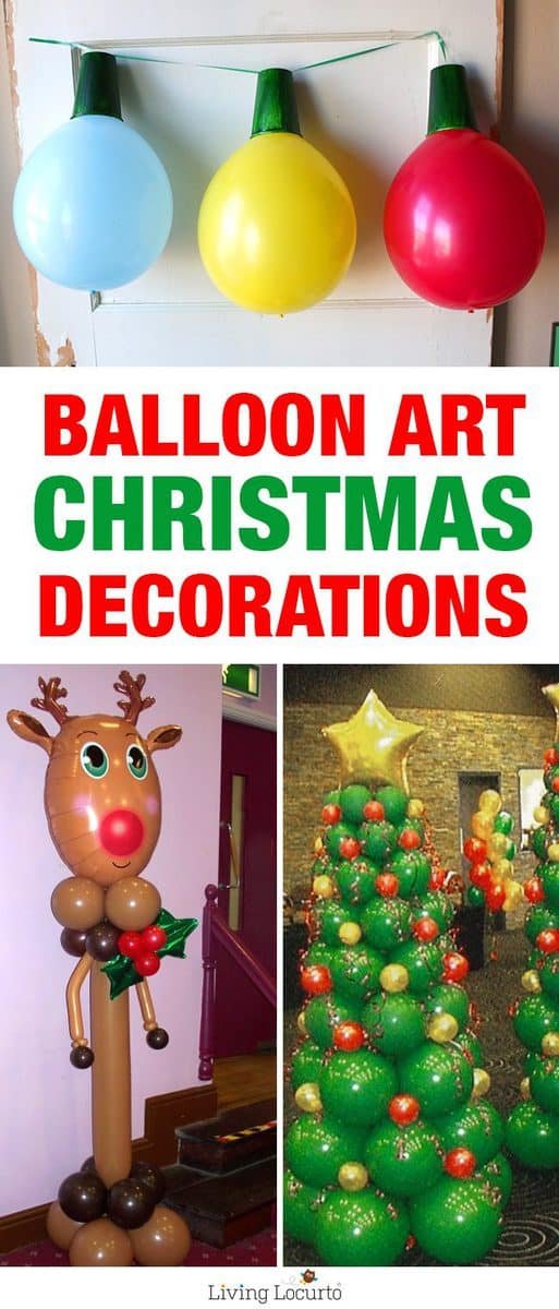 Creative ideas for Christmas Balloon Art! Fun DIY Holiday Decorations that turn your home or party into a festive winter wonderland.