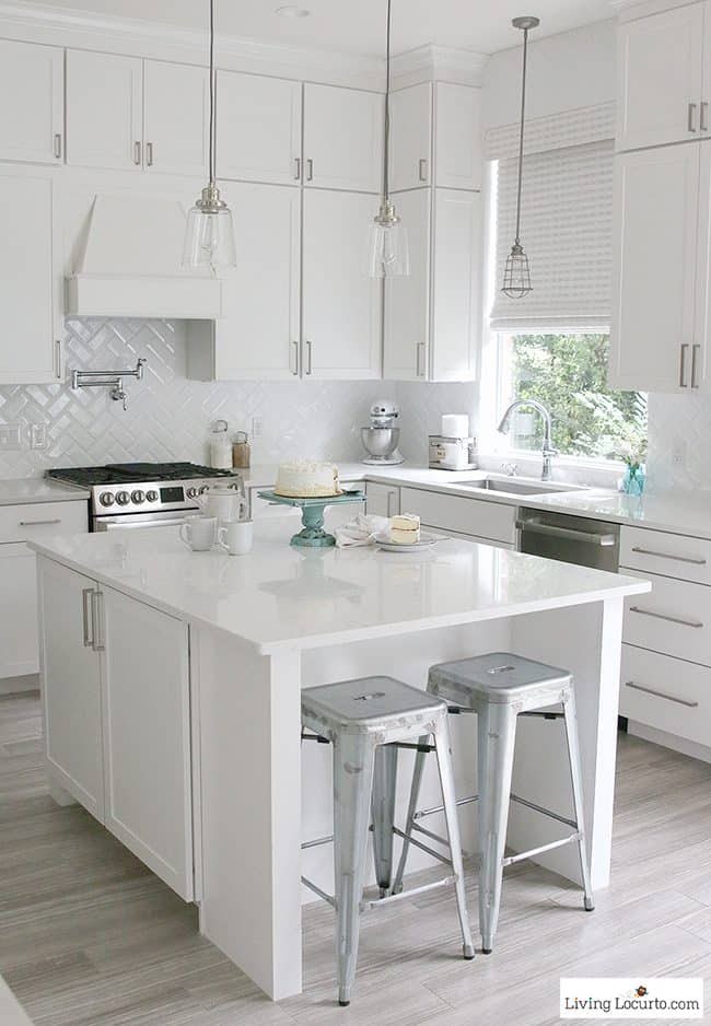White Kitchen Remodel Before And After white kitchen reveal | modern farmhouse before and after photos