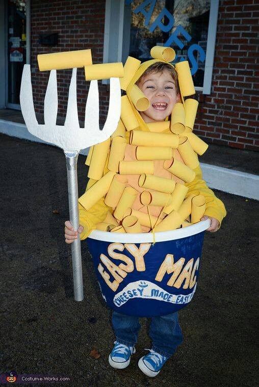 Mac and Cheese - Cute Kids Halloween Costumes! Over 25 of the Best DIY Halloween Ideas to inspire you on Trick or Treat night!