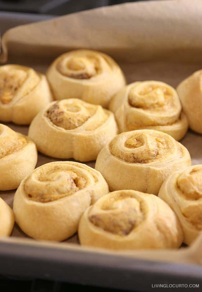A quick and easy homemade breakfast in less than 25 minutes! Pumpkin Spice Cinnamon Rolls.