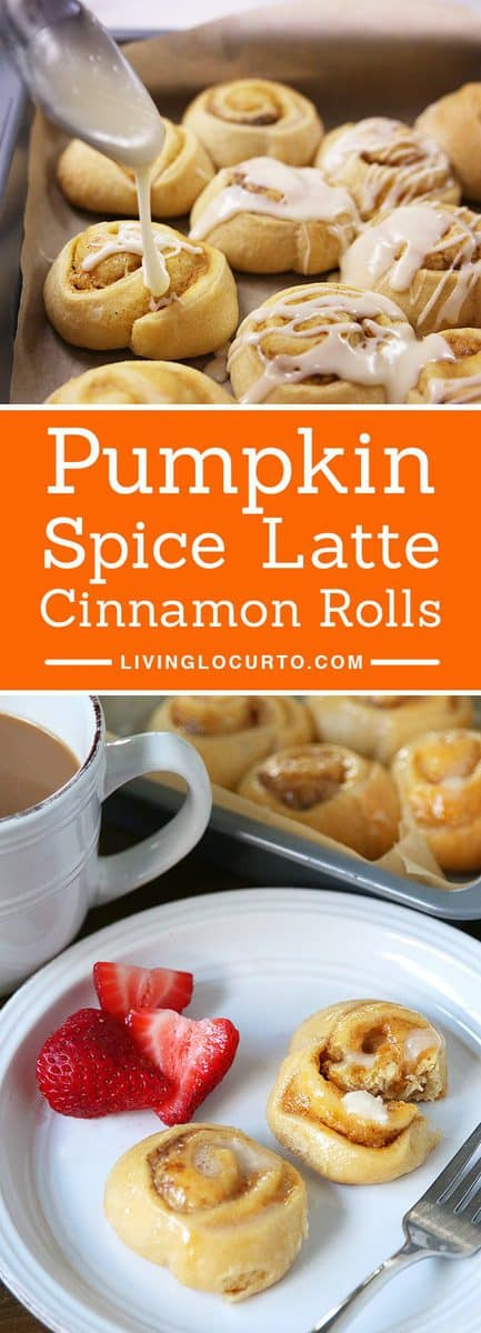 Pumpkin Spice Latte Cinnamon Rolls make any morning feel special! With a hint of coffee, cream cheese and pumpkin spices, your taste buds will jump for joy.