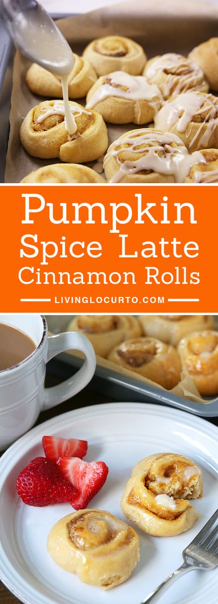 Pumpkin Spice Latte Cinnamon Rolls make any morning feel special!With a hint of coffee, and combination of cream cheese and pumpkin spices, your taste buds will jump for joy.Enjoy aquick and easy homemade breakfast in less than 25 minutes with this tastyrecipe! #pumpkin #cinnamonrolls #recipe #breakfast #easyrecipes #yum