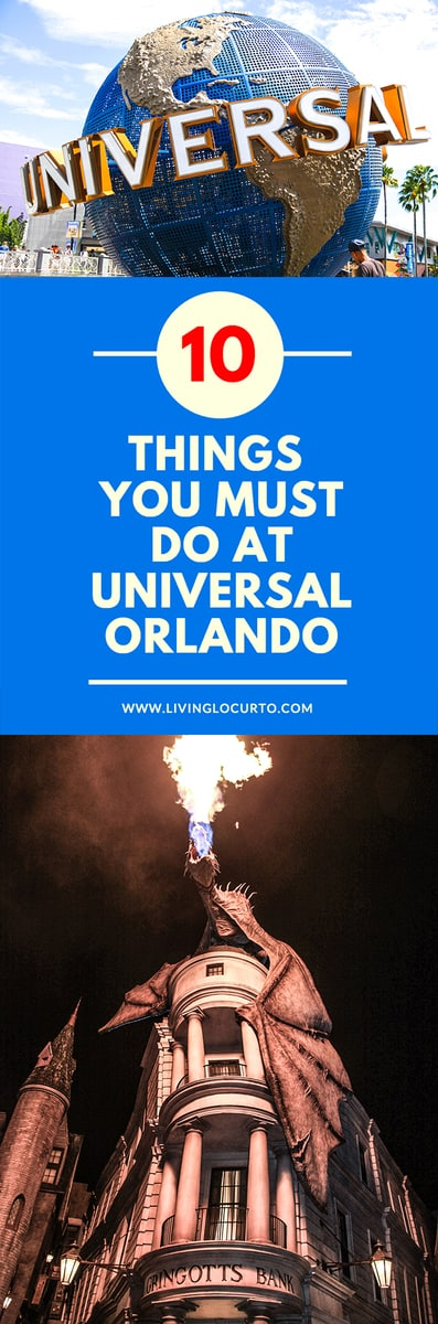 10 Things you MUST do at Universal Orlando! Rides and attractions you can't miss at Universal Orlando! What's new at the Wizarding World of Harry Potter and more. Family vacation travel tips. #vacation #universalorlando #familyvacation #travel #universalstudios #themepark #traveling #traveltips #universal