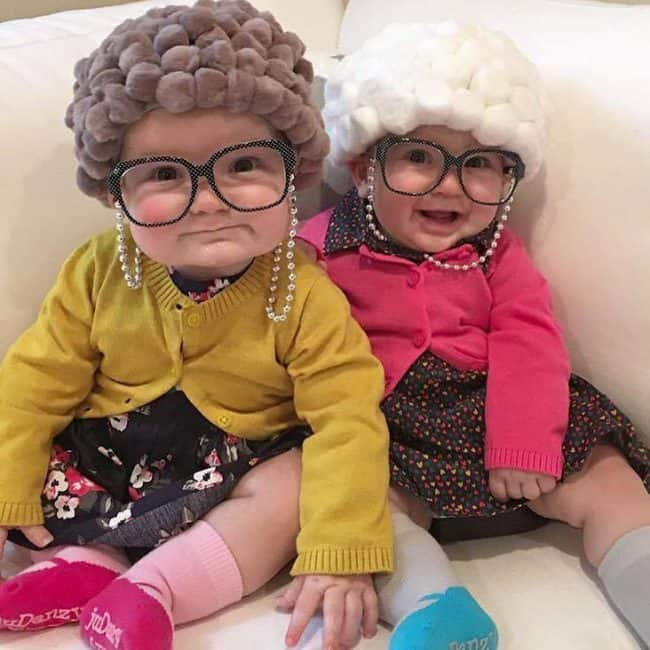 Old Lady Pom Pom Hair Hats - Cute Kids Halloween Costumes! Over 25 of the Best DIY Halloween Ideas to inspire you on Trick or Treat night!