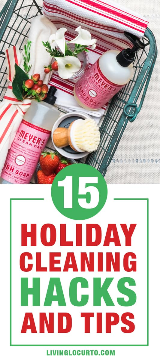 Cleaning Hacks, tips and tricks to prepare for Holiday and Christmas guests in your home effortlessly. How to clean your home tips.