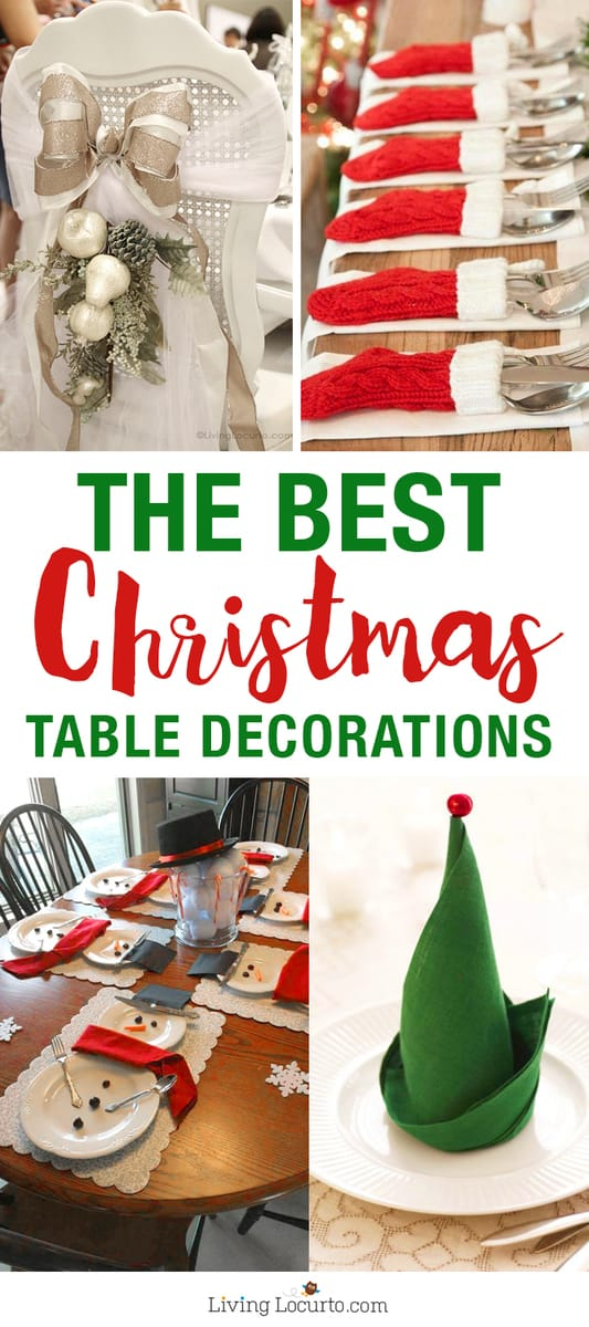 The best christmas table setting decorations holiday for Christmas home decor 2016