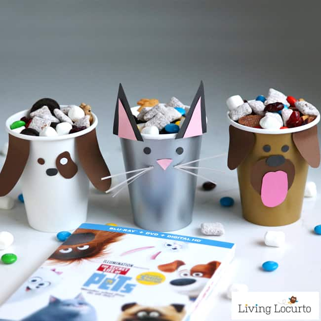pet party ideas dog amp cat paper cup craft puppy chow bar