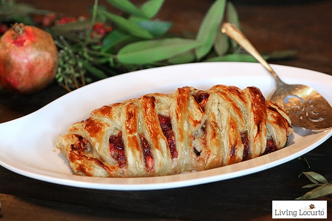 This easy savory braided turkey dish is like taking a bite of Thanksgiving! A great family dinner recipe or holiday party appetizer anytime of the year. LivingLocurto.com