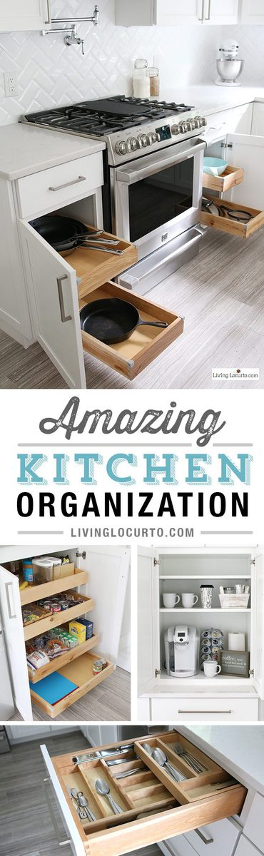 The Best Kitchen Cabinet Organization Ideas! This Modern Farmhouse White  Kitchen Is Full Of Clever