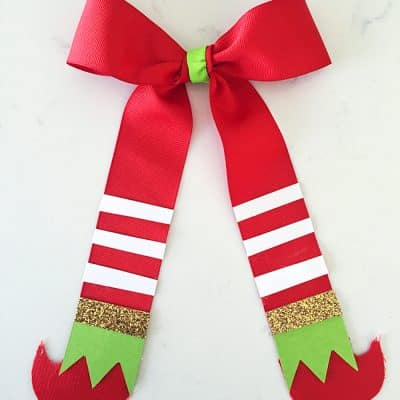 Elf Bow Craft | Cute Christmas Elf Gift Idea
