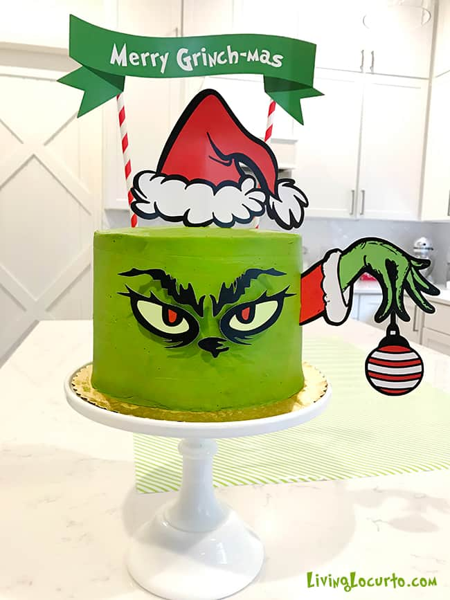 Adorable Grinch Cake And Grinch Christmas Party Ideas