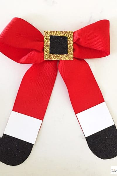 How to Make a Santa Bow