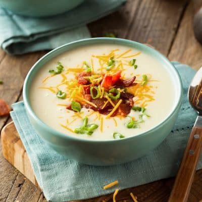 10 Minute Baked Potato Soup | Pressure Cooker Recipe