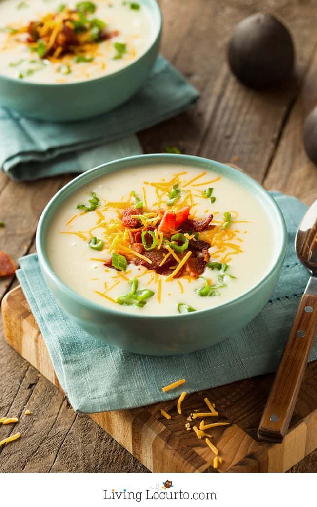 10 Minute Instant Pot Baked Potato Soup is the perfect quick and easy hearty meal! With a pressure cooker like the Instant Pot, you'll have dinner in minutes. Easy Instant Pot Potato Soup.