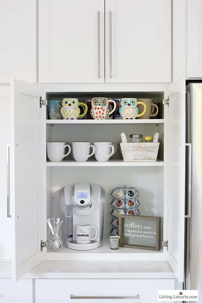 coffee bar 10 clever organization ideas for your kitchen whether you are planning a - Kitchen Organization Ideas