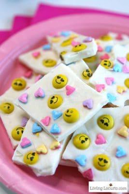 Emoji Chocolate Bark | Valentine's Day Treat