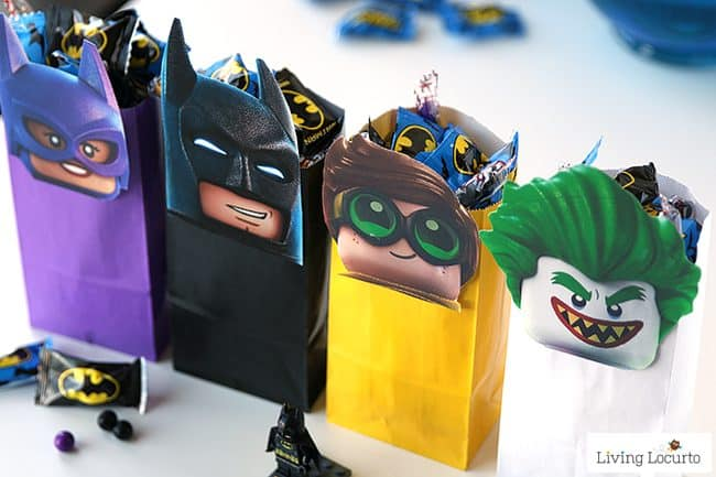 The LEGO Batman Movie Party Treat Bags To Celebrate Free Printable Minifigures