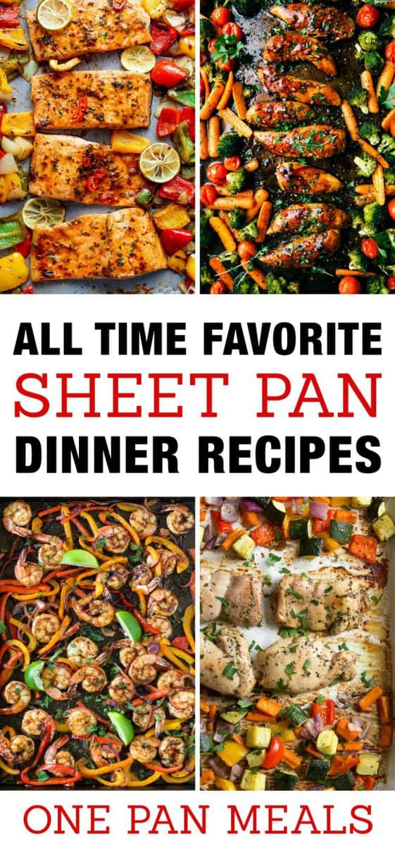 Favorite Sheet Pan Dinner Recipes Easy One Pan Meals