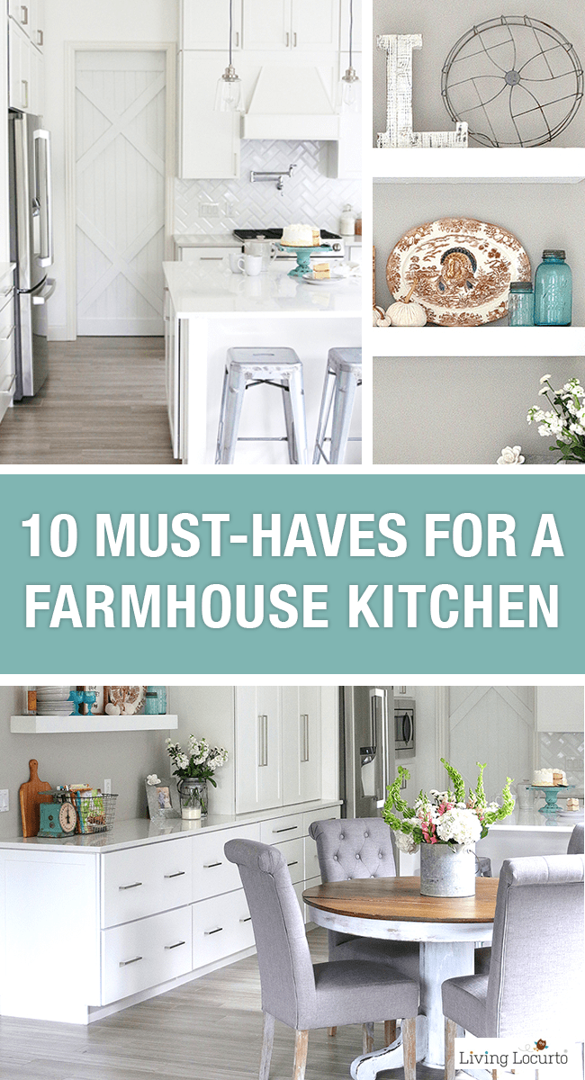Farmhouse kitchen decorating ideas 10 must haves for a modern farmhouse style for Farmhouse kitchen design pictures